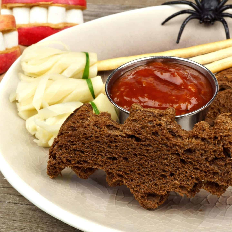 Halloween treat bat bread cut out
