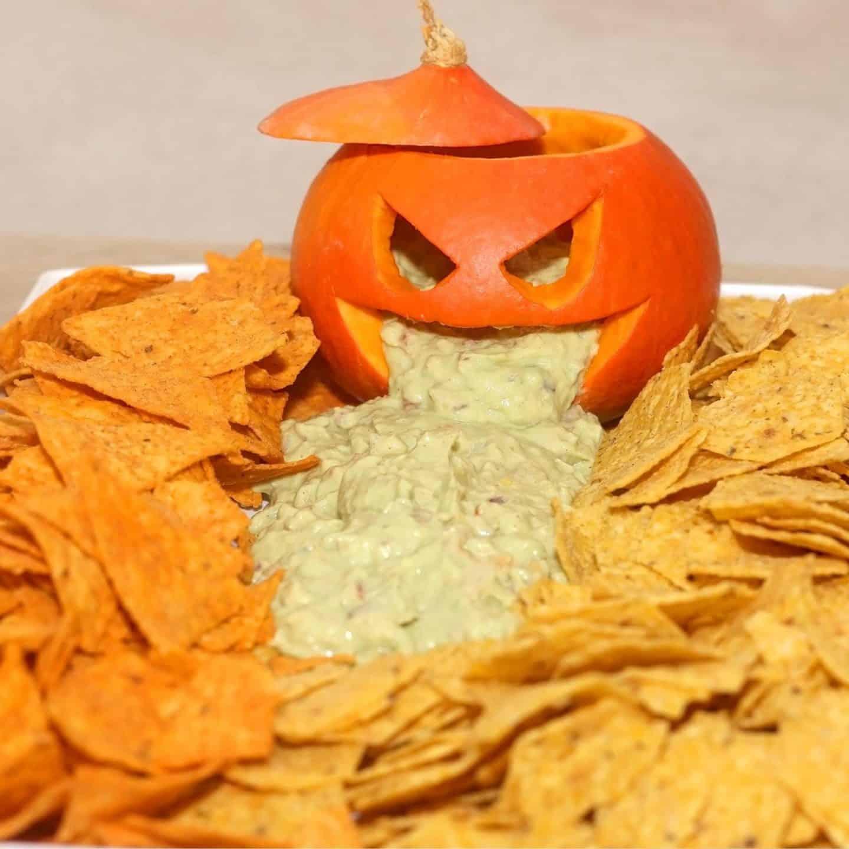 Jack O Lantern Chips & Dip