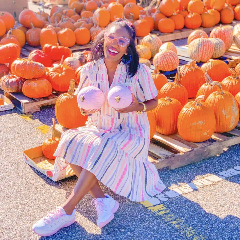 Halloween Pumpkins Painted Pink
