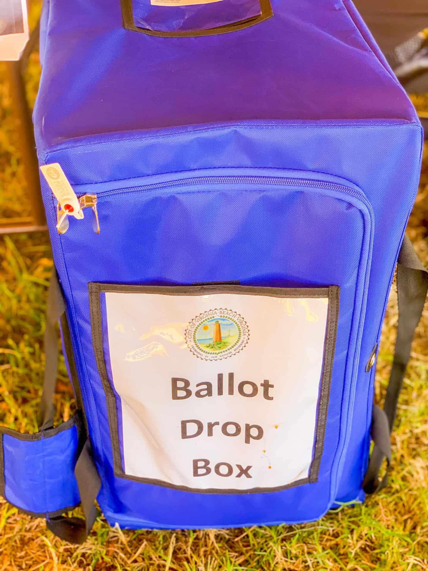 Vote Drop Off Ballot Box