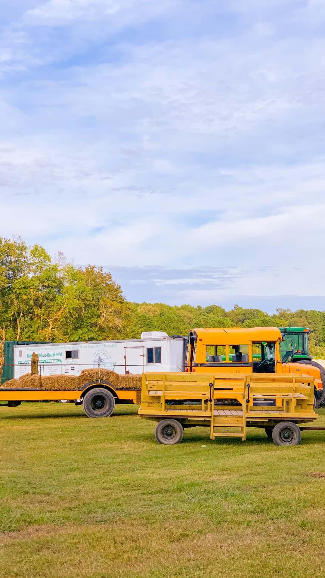 Fall iPhone Wallpaper Aesthetic Farm Hay Rides