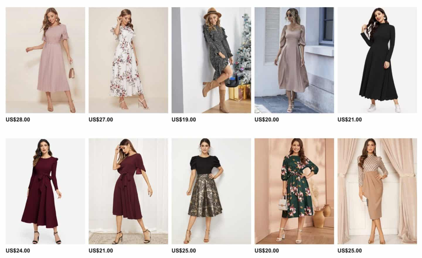 SheIn Dresses Fit & Flare