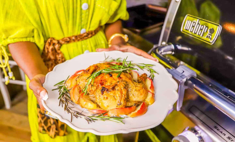 Weber Grill Recipes Apple Ginger Rotisseries Chicken