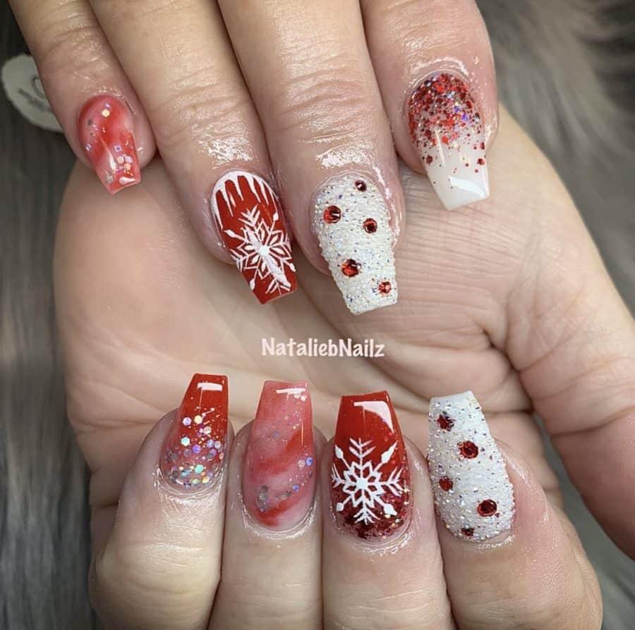 Acrylic Nails Christmas Winter