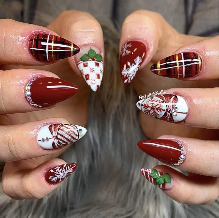 December Holiday Nails