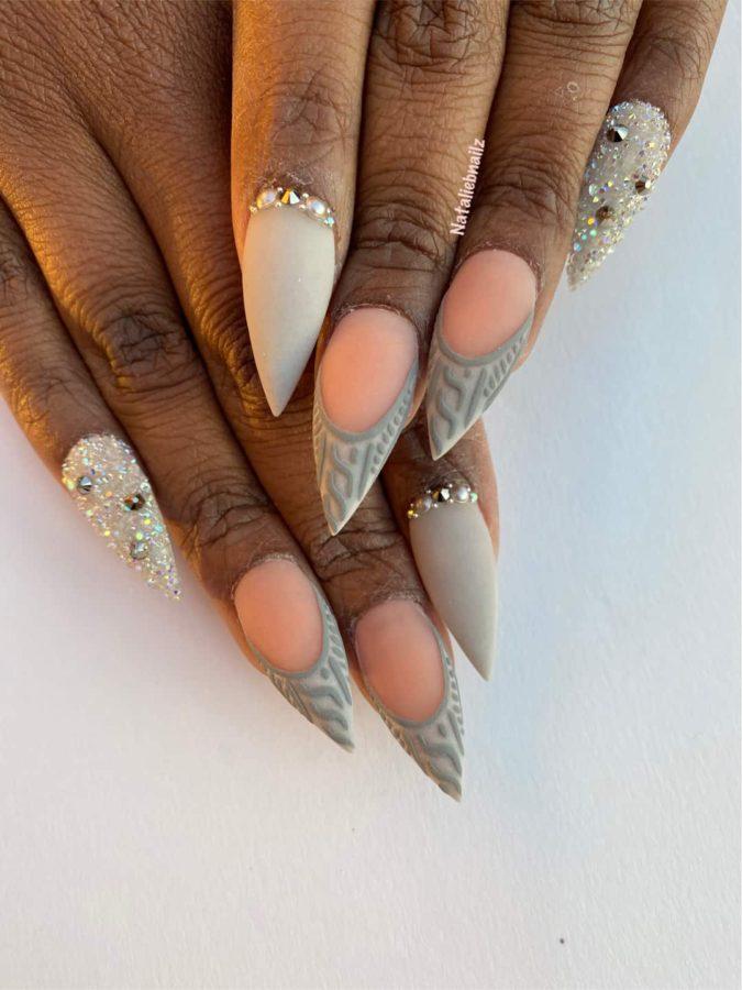 Glitter Sweater Nails