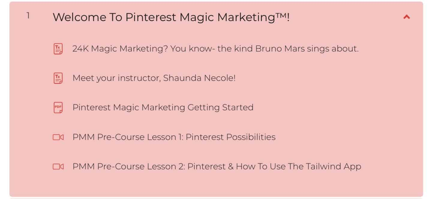 Welcome To Pinterest Magic Marketing Modules At A Glance