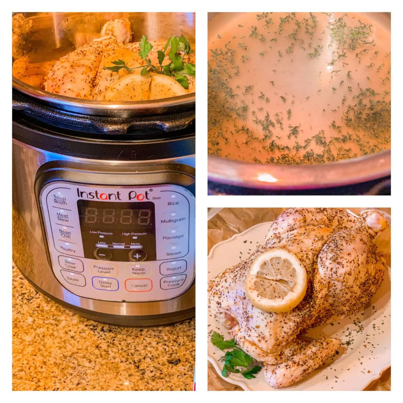 Instant Pot Lemon Herb Chicken Recipe