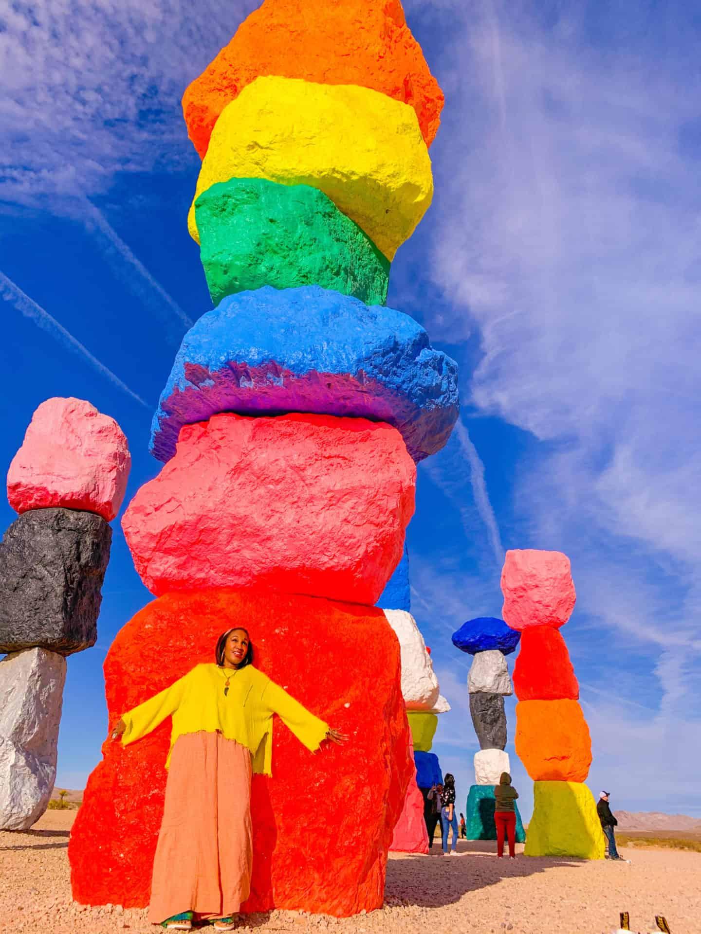 Las Vegas Day Trip Visit Seven Magic Mountains