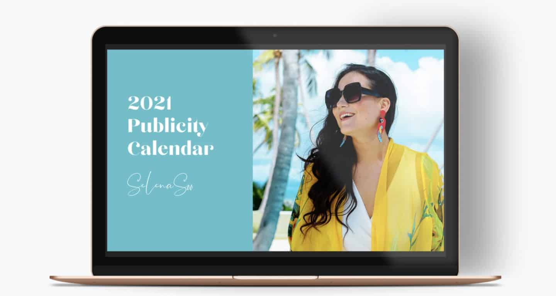 Selena Soo Media Publicity Calendar 2021