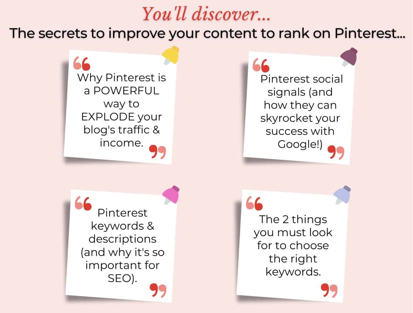 Discover The Secrets To Improve Your Content & Rank On Pinterest