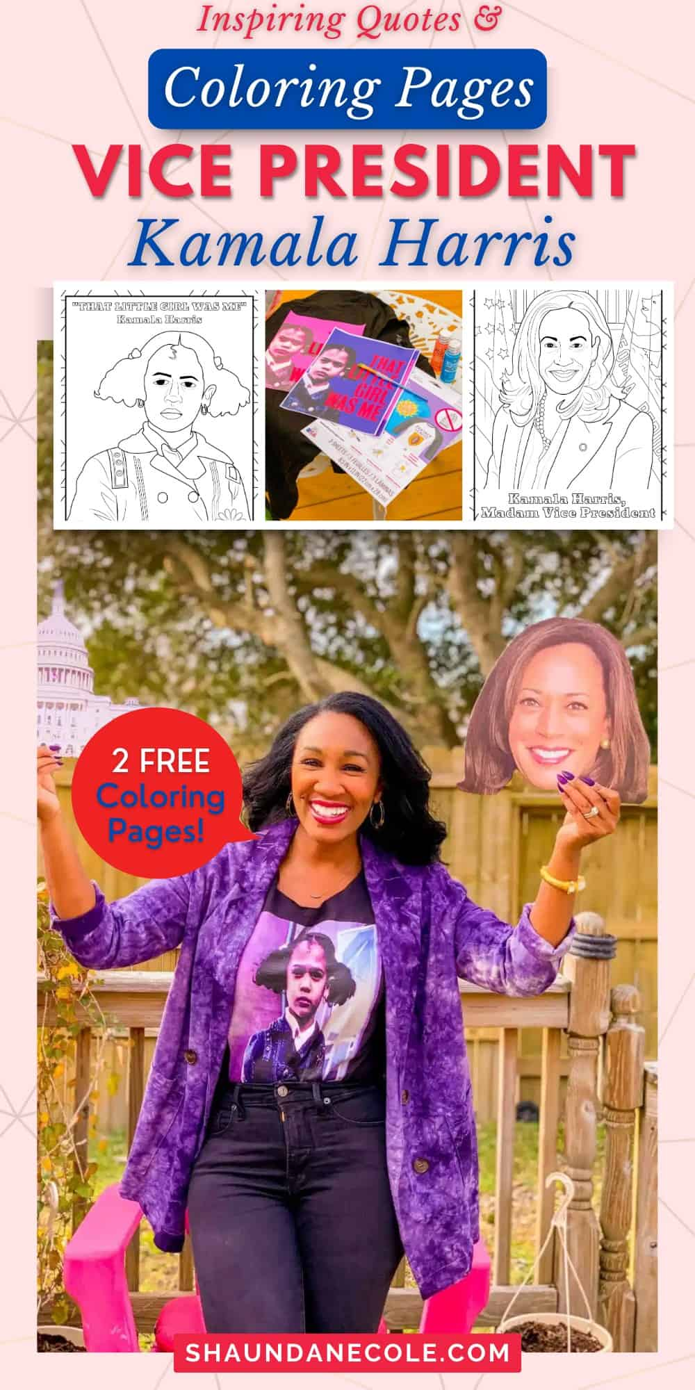 Kamala Harris Coloring Pages & Womens Day Quotes