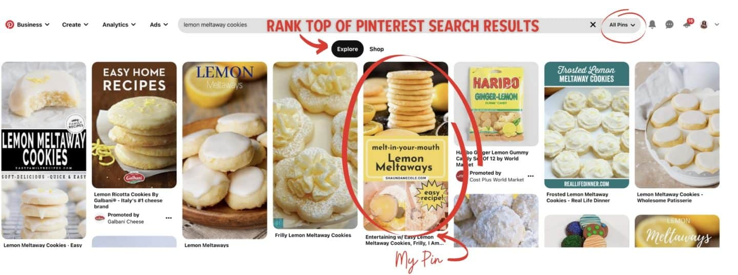 Pinterest Top Ranking Pins-Cookie Recipes