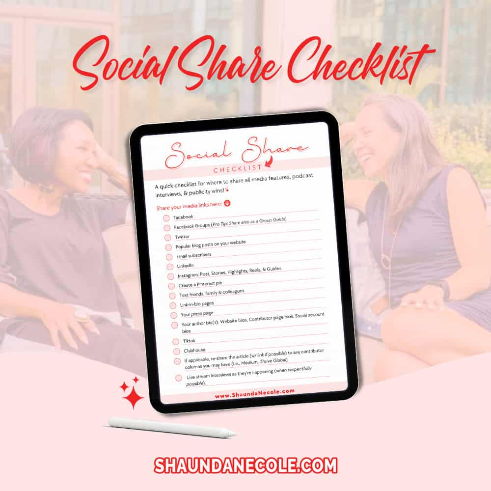 Social Share Checklist