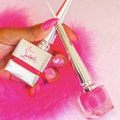 Christian Louboutin Neon Pink Nails