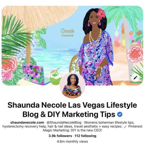 Shaunda Necole Verified Pinterest Business Account
